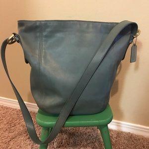 Coach vintage Monterey aqua leather hobo bag